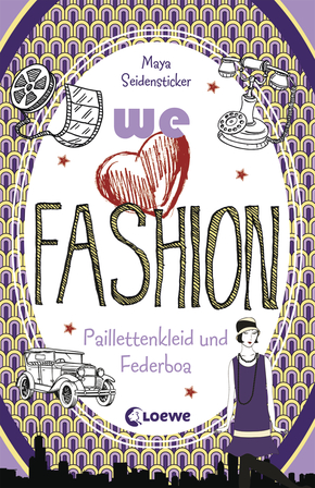 we love fashion – Paillettenkleid und Federboa