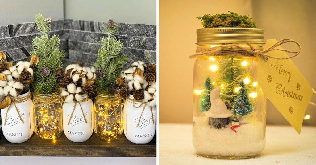 Come fare una lanterna di natale con un barattolo di vetro. Barattoli Di Vetro Per Decorare Il Natale 11 Bellissime Idee Creative