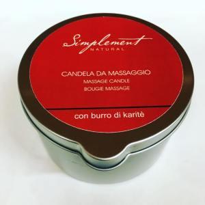 candela da massaggio al burro di karite
