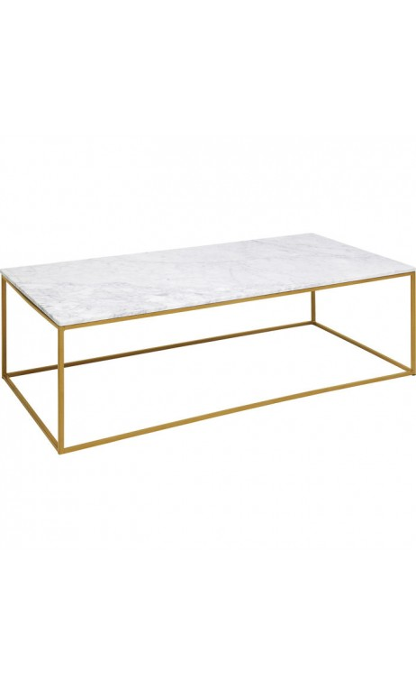table basse rectangulaire marbre