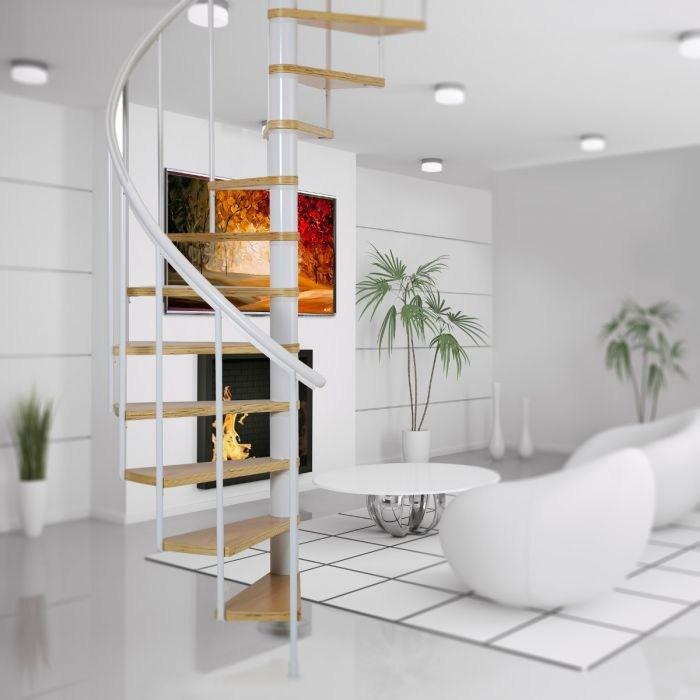 Dolle Calgary White Spiral Stair Kit 1400Mm Loft Centre | Dolle Calgary Spiral Staircase