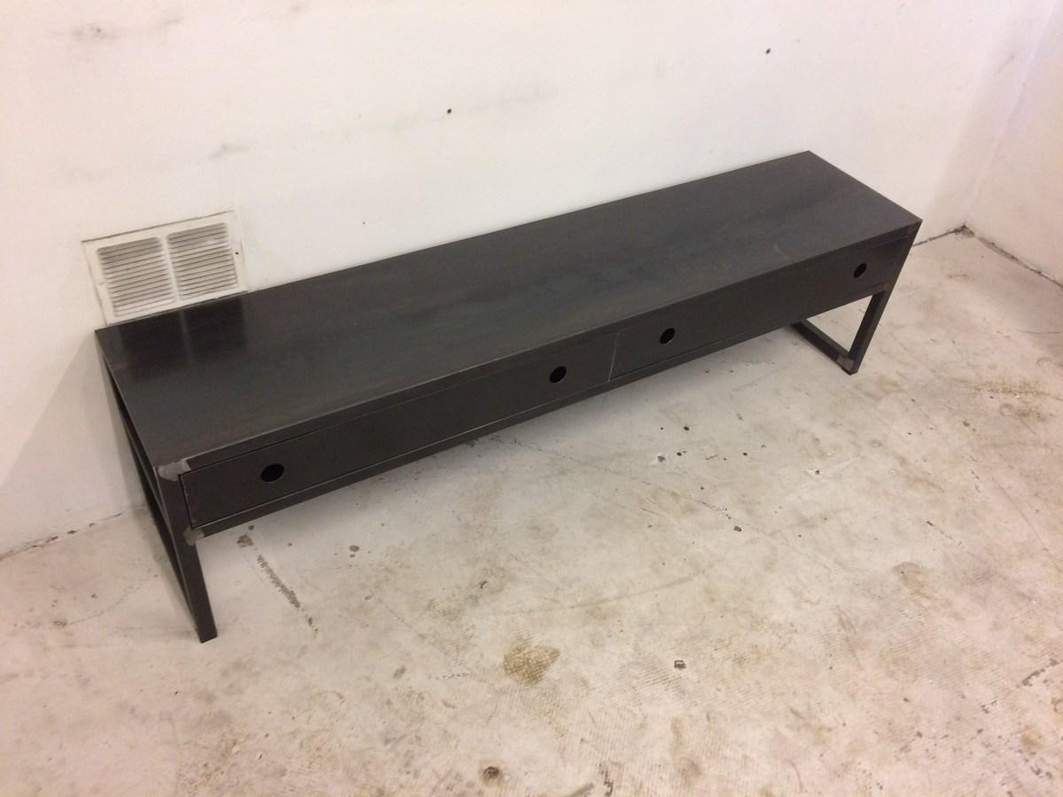 meuble tv acier