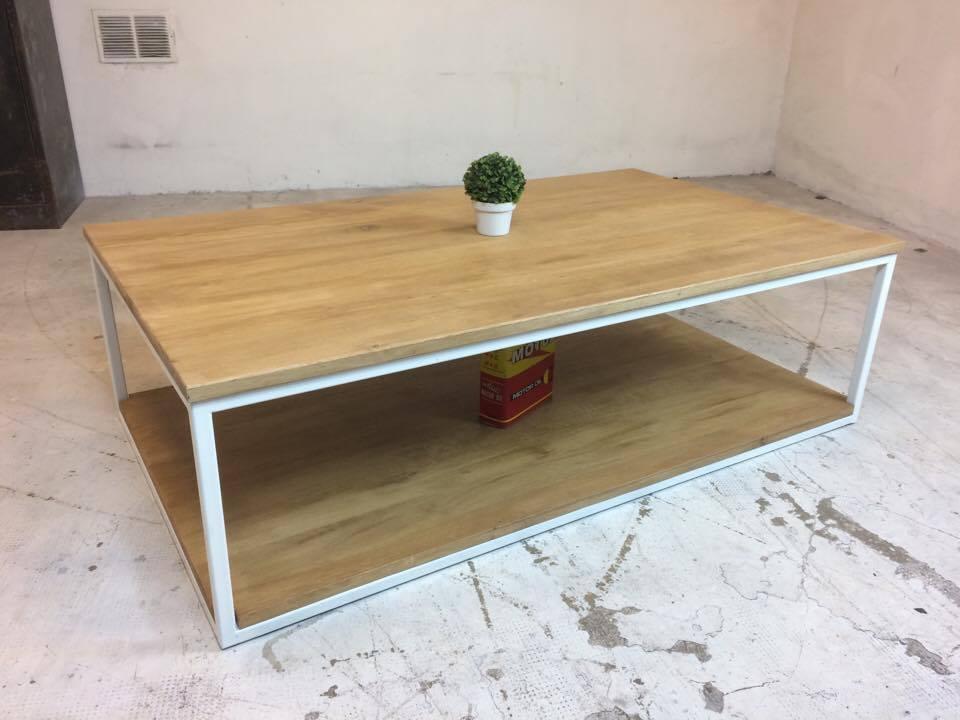 TABLE BASSE BLANC CHENE