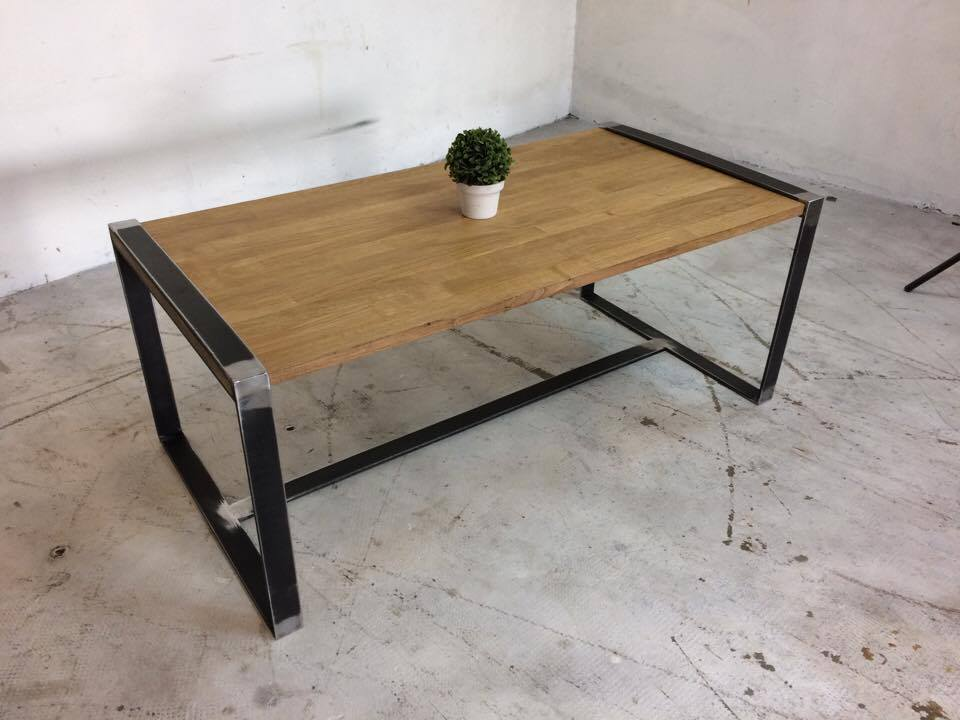 TABLE BASSE INDUSTRIEL