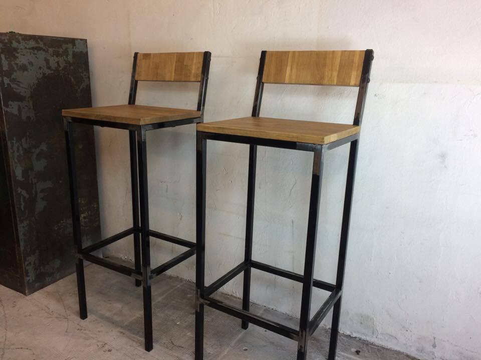 tabouret bar industriel vuesdesofia. Black Bedroom Furniture Sets. Home Design Ideas