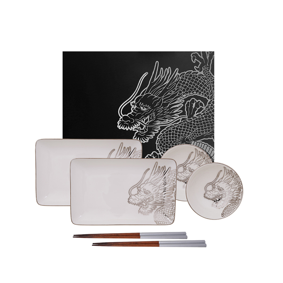 TOKYO DESIGN – LIMITED EDITION DRAGON PLATINUM PLATE SET 6 PCS