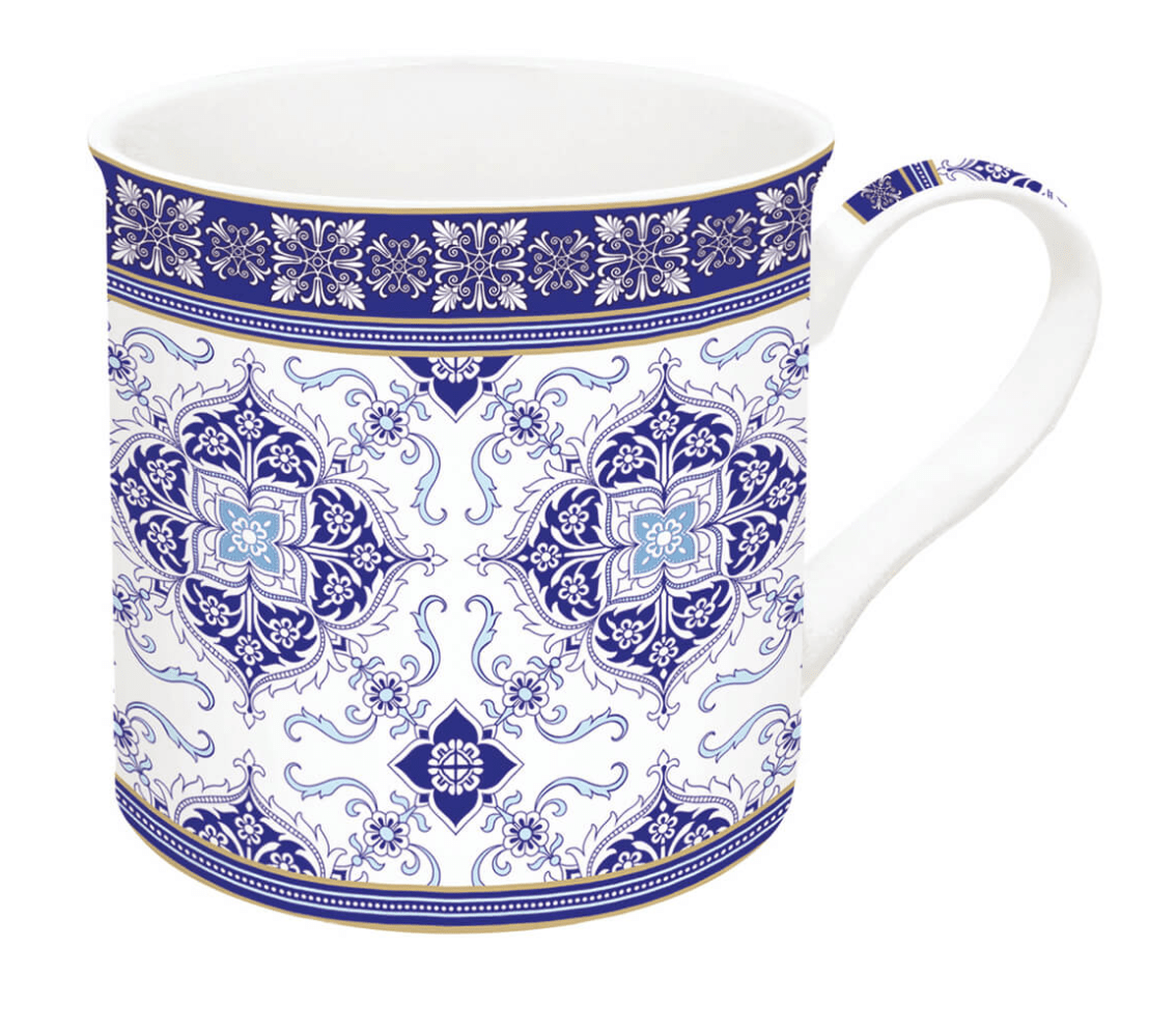 Easy Life | Tazza Singola In Porcellana 300 Ml In Scatola Regalo AZULEJO WHITE
