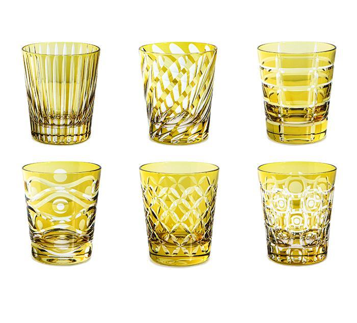 Livellara Tumbler 300 Ml Set 6 Bicchieri In Cristallo Luxury Fatti A Mano AMBER