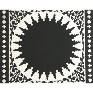 Tovagliette Set 2 Pezzi | Mosaic Black & White | Images D'Orient