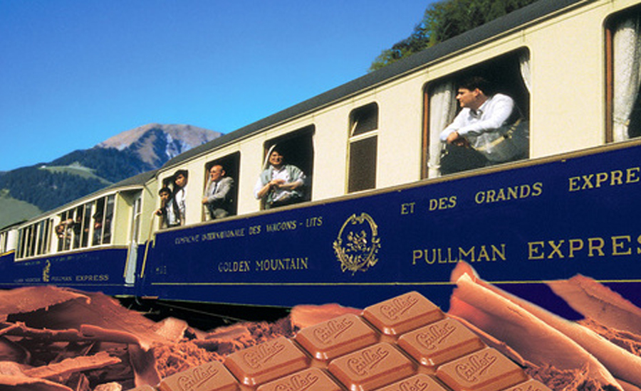 Luxury Swiss chocolate train