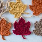 Autumn Leaves Garland Loganberry Handmade
