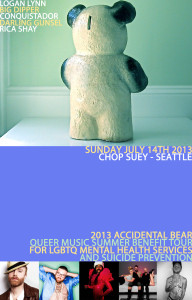 Accidental Bear Chop Suey Seattle Poster