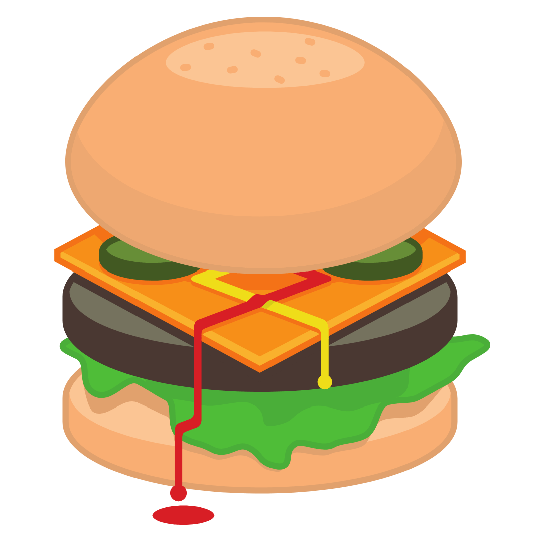 Büffel-Cheesburger MEGA
