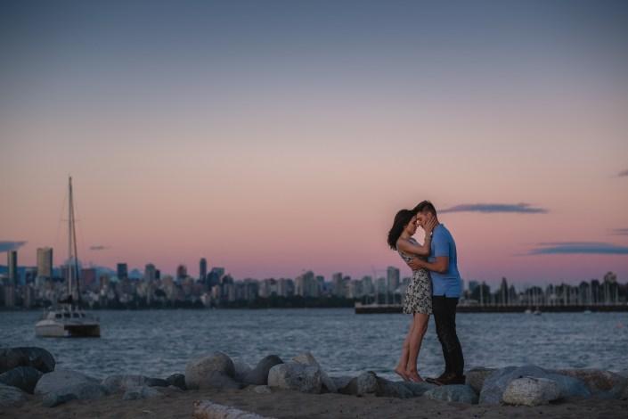 vancouver engagement kits beach