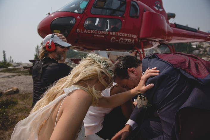 blackcomb heli wedding couple