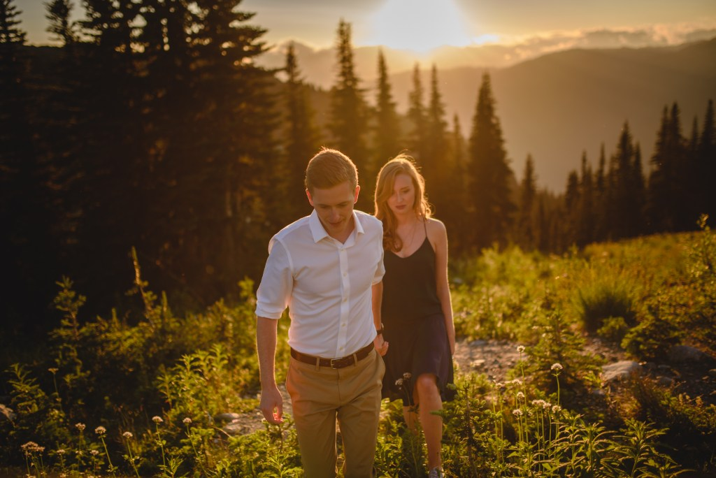 engagement session whistler mountain