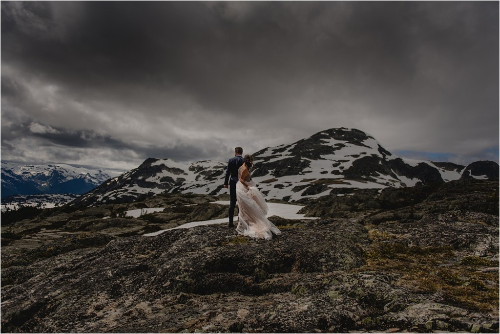 A bride and groom helicopter elopement story in Whistler, BC