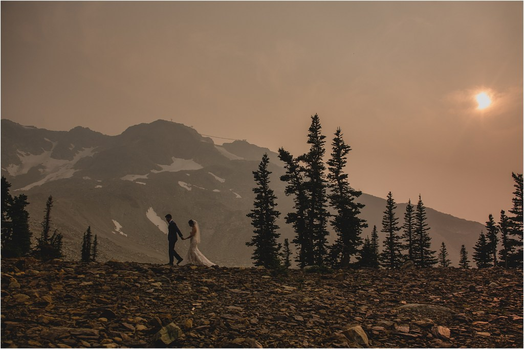Sunset love story in Whistler, BC