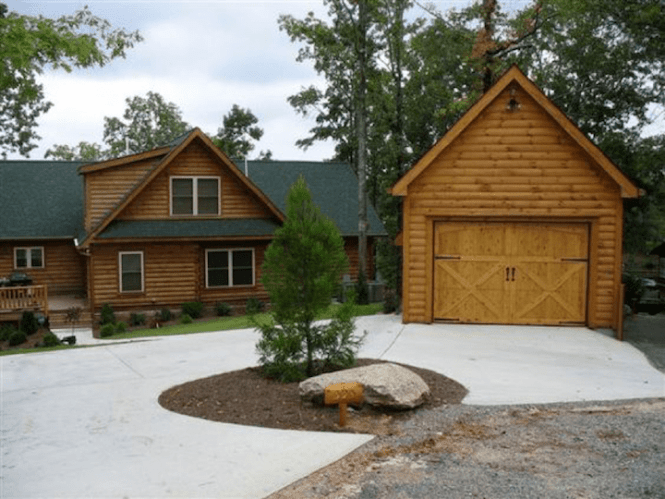 8 Log Cabin Garages Made From Logs And Timber Hub