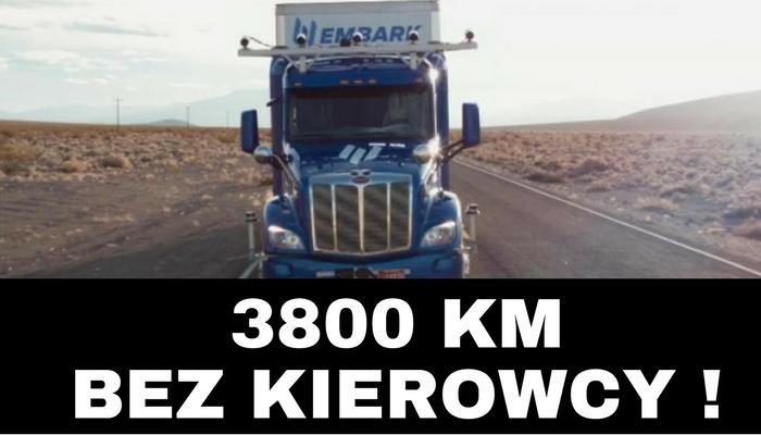 autonomiczna ciężarówka bez kierowcy