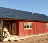 Prefabricated modular timber frame farmhouse