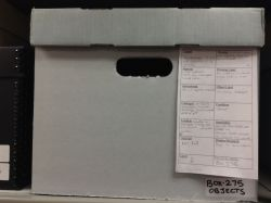 Box with draft template