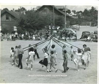 White Center playground dedication, May 22, 1949 SWSHS #2005.1.296
