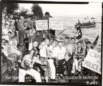 1952 The Pirates Land at Alki.