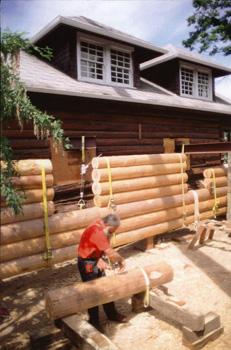 loghouse museum construction