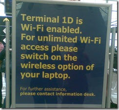 Free WiFi at Delhi Airport