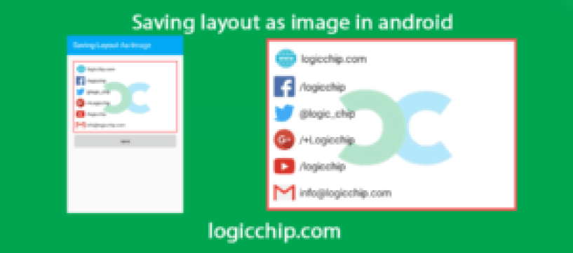 Creating image in android logicchip 1
