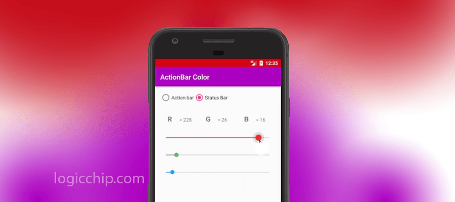 Dynamically change Action Bar and Status bar Color for android