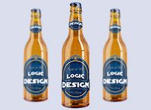 bottle beer mock up