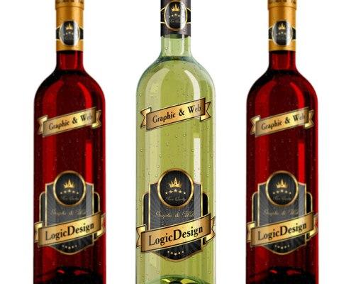 bottle wine mock up