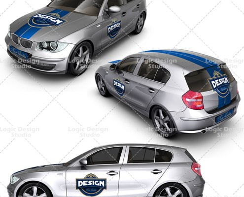 executive family car mock up designs