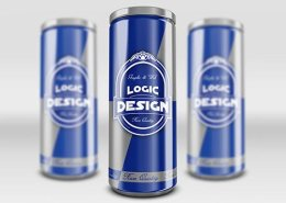 Energy Drink Can Mock-Up