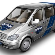 Light Van Car Mock-Up