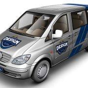 Light Van Car Mock-Up
