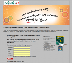 Download Free 1 Year License of Kaspersky Internet Security 2010