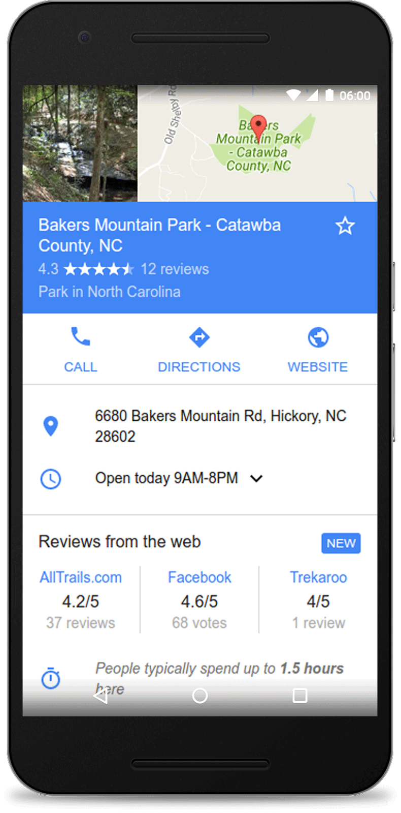 google reviews from the web mobile example