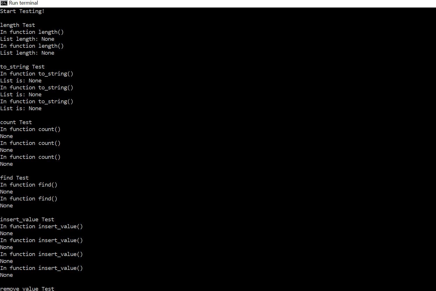 Programming Assignment 2- WRITING A PYTHON MODULE (LIST MANIPULATION  FUNCTIONS) - LogicProhub