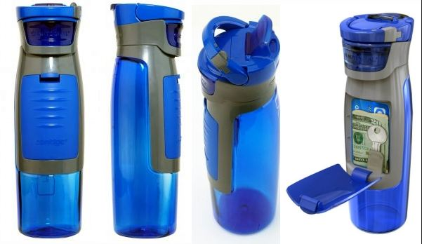 water bottle with compartments