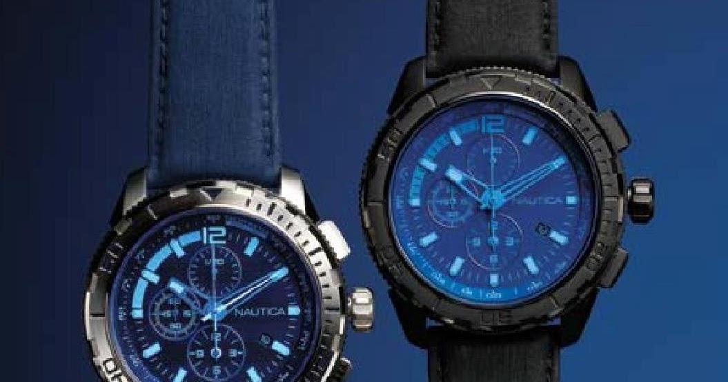 NAUTICA NST 101 BLUE CRYSTAL CHRONOGAPH WATCH