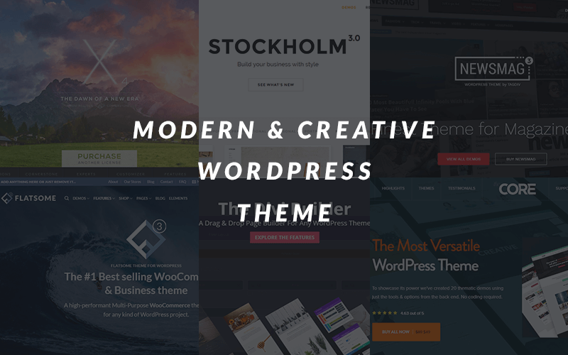 The Best Modern & Creative WordPress Themes of 2017