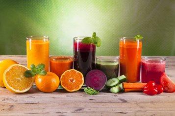 Healing properties of fruit juices