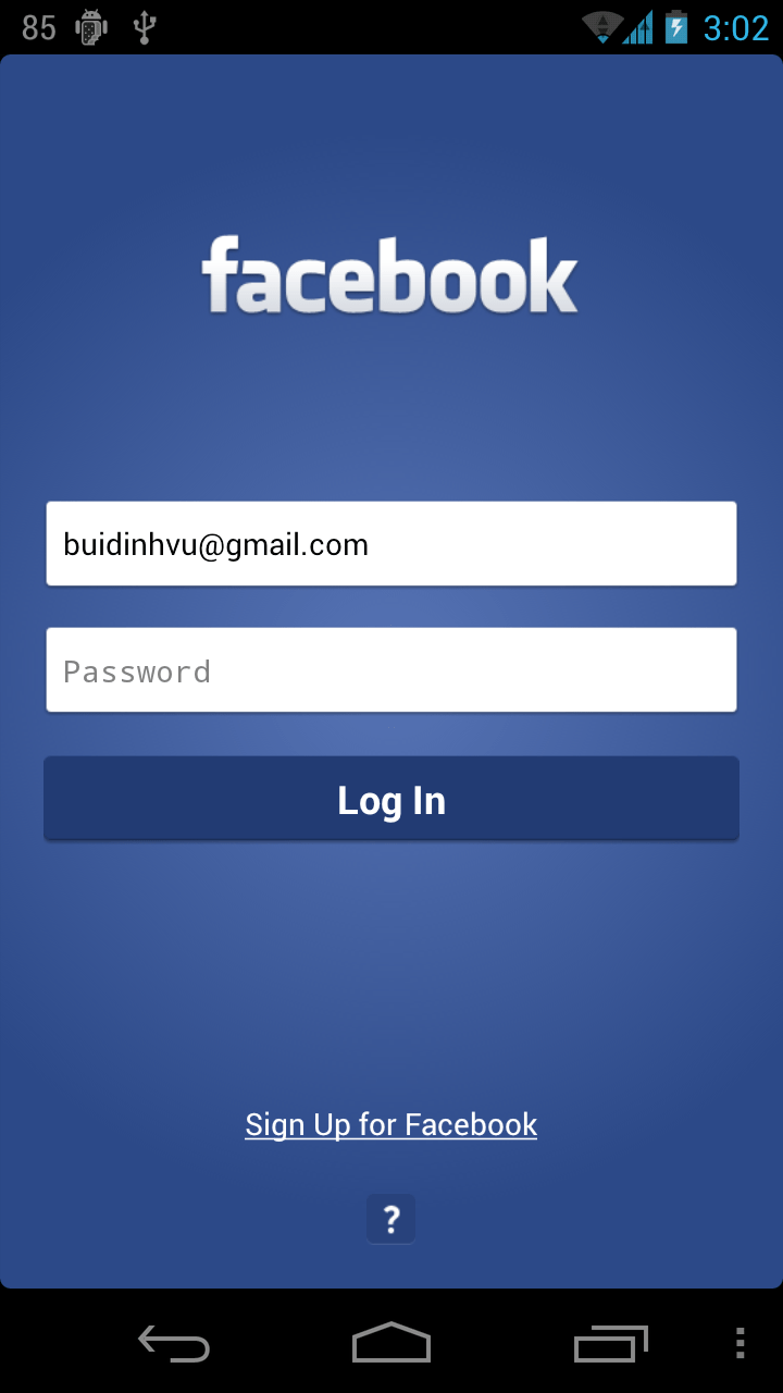 Facebook Home Page Mobile