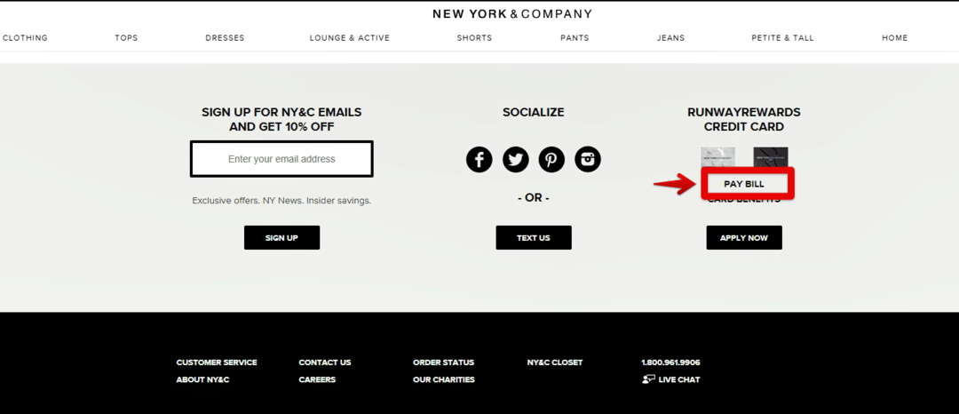 New York & Credit Card Register for Online Access