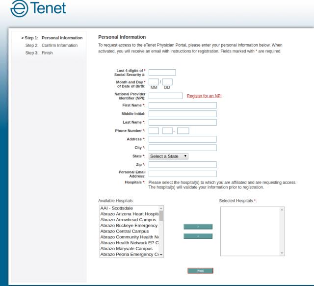 etenet registration process
