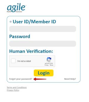 Agile Health Insurance Forgot Password