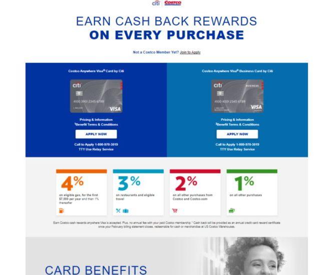 Apply for Costco Citi Credit Card
